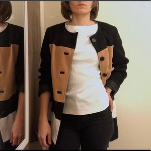 Jackets & Blazers - Neutral Colored Jacket. Camel, Black, and Cream.